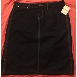 NWT Guess Jeans Pencil Skirt 31 Dark Wash